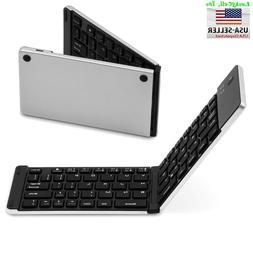 Aluminum Foldable Wireless Bluetooth Keyboard iPhone iPad iO