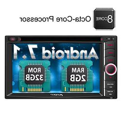 Android 7.1 Car Stereo Double Din Octa Core with DVD Player,