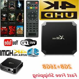 X96 Mini Android 7.1 Smart TV Box S905W Quad Core WiFi 2+16G