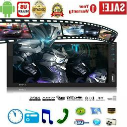 "Android 8.1 Car Stereo MP5 Player GPS Navigation 7"" 2 Din Ra"