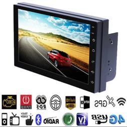 Android 8.1 WiFi 2Din 7in Quad Core GPS Navi Car Stereo MP5