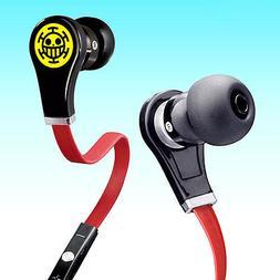 Anime One Piece Trafalgar Law In-ear Earphone Stereo Headpho