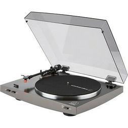 audio technica at lp2x record player gray
