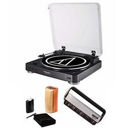 Audio Technica ATLP60BK Bluetooth Turntable with Knox Vinyl