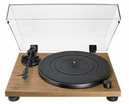 "Audio-Technica Walnut Plinth Turntable 33 rpm 12"" LP EP Reco"