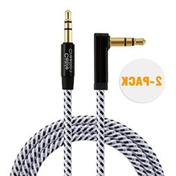 CableCreation  3 Feet 3.5mm Auxiliary Audio Cable 90 Degree
