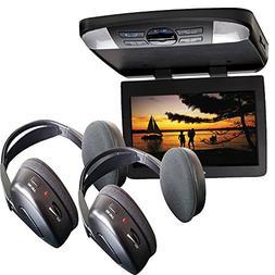"Audiovox AVXMTG13UHD 13"" LED Overhead DVD Player w/ 2 Wirele"