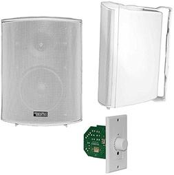 Earthquake Sound AWS502W Outdoor Bluetooth Speaker Set with