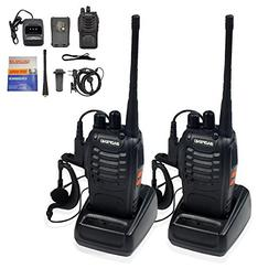 Ammiy baofeng BF-888S Walkie Talkie 2pcs in One Box with Rec