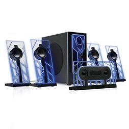 GOgroove BassPULSE 5.1 Computer Speakers Surround Sound with