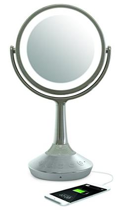 """iHome Beauty iCVBT52 6"""" Double-Sided Vanity Mirror Bluetooth"""