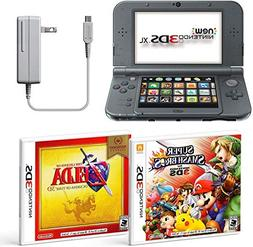 Black Nintendo 3DS XL Bundle Nintendo, AC Adapter, and Two F