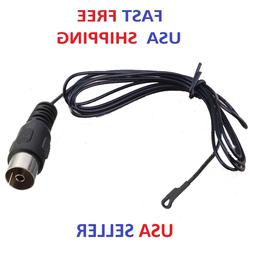 Black 5 Foot FM Radio Antenna Push-On PAL 75 OHM Connector f