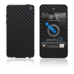 iCarbons Black Carbon Fiber Vinyl Skin for iPod Touch 4th Ge