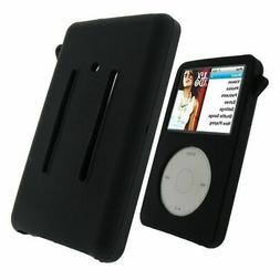 Black Rubber Silicone Skin Case For iPod Classic 6th 7th Gen