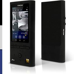 iGadgitz Black Silicone Skin Case Cover for Sony Walkman NW-