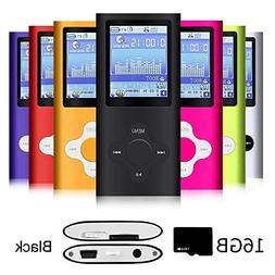 G.G.Martinsen Black Versatile MP3/MP4 Player with a 16GB Mic