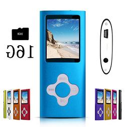 G.G.Martinsen Blue Stylish MP3/MP4 Player with a 16GB Micro