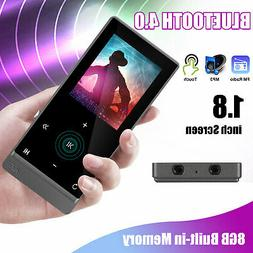 Bluetooth 4.0 Touch Screen MP3 Player HiFi Lossless Sound FM