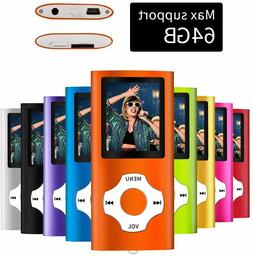 MYMAHDI Bluetooth 5.0 MP3 / MP3 Player with 32GB Memory Card