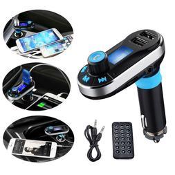 bluetooth car fm transmitter mp3 player hands