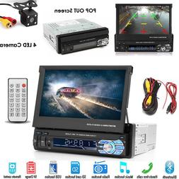 "Bluetooth Car Stereo Radio 1 DIN 7"" HD MP5 FM Player Touch M"