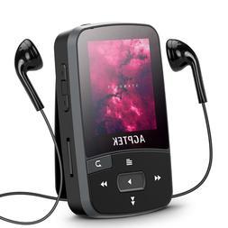 AGPTEK Bluetooth Clip MP3 Player 16GB FM/Voice Recording & L