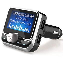 Bluetooth FM Transmitter, LeeQin Wireless Audio MP3 Player R