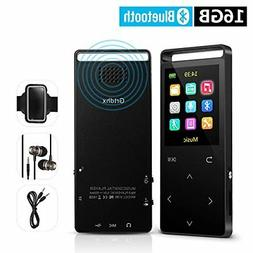Grtdhx 16GB Bluetooth MP3 Player with FM Radio/Voice Recorde