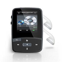 RUIZU Bluetooth MP3 Player,Kyouichi 8GB Clip Sport Sweatproo