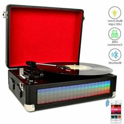 Bluetooth Multi-Color LED Record Player for Vinly Records Vi