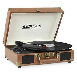 bluetooth portable suitcase record player with 3