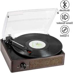 Bluetooth Record Player Belt-Driven 3-Speed Turntable, Vinta
