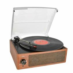 Bluetooth Record Player Belt-Driven 3-Speed Turntable Vintag