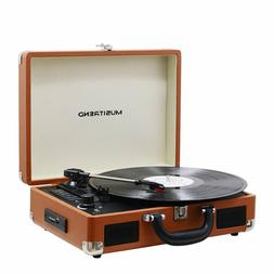 Musitrend Bluetooth Record Player Portable Suitcase Turntabl