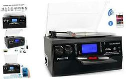 bluetooth record player turntable with stereo speaker