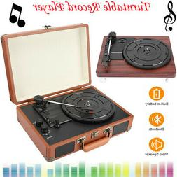 Bluetooth Record Player Vinyl Turntable Player Built-in 2 St