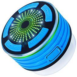 Bluetooth Speaker with FM Radio, DLAND IPX7 Waterproof Showe