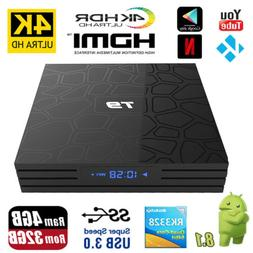 Bluetooth T9 Android 8.1 Smart TV Box Rockchip 4GB 32GB 4K M