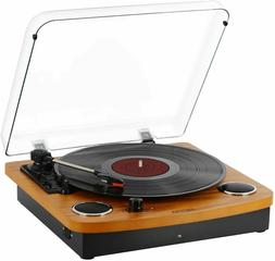 Bluetooth Turntable, JOPOSTAR Vinly Record Player Built-in D