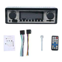 Bluetooth Vintage Car Radio MP3 Player Stereo USB AUX New Cl