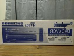 Brand New Symphonic WF803 DVD VCR Dual Deck Combo Player Vid