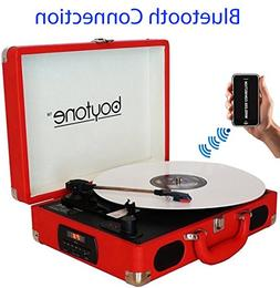 Boytone BT-101RD Bluetooth Turntable Briefcase Record Player
