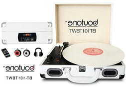 Boytone BT-101TBWT 5 in 1 Briefcase Record Player AC-DC Buil