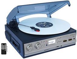 boytone BT-17DJS-C Record/Cassette Turntable - Belt Drive -
