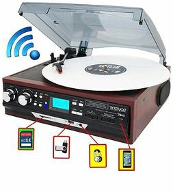 Boytone BT-37M-C Bluetooth 3-Speed Stereo Turntable, Wireles
