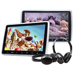 Eonon 2019 10.1 Inch Headrest Monitors, Dual Screen DVD Play