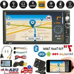 "Car 2 DIN 7"" Inch HD 1080P MP5 FM Player Touch Screen Stereo"