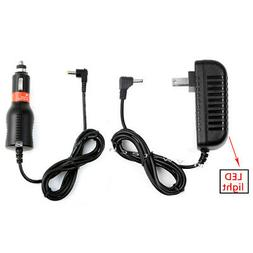 Car Charger + AC Power Adapter For Ematic EPD121 BL EPD121PN
