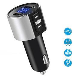 Car charger, BliGli Bluetooth FM Transmitter, BT Receiver wi